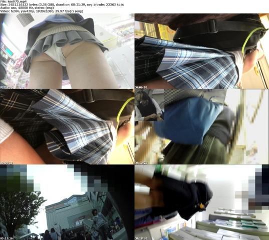 けしからん☆勃起不可避なミニスカJ系のエロ脚と温く温くパンティ♪etc6本